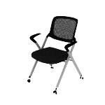 HVL314 | HON Assemble Mesh Back Nesting / Stacking Chair | Fixed Arms | Two Per Carton