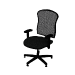 HVL712 | HON Wave Mesh Mid-Back Chair | Synchro-Tilt | Adjustable Arms
