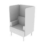 HASHB1MF | HON Astir One Seat Lounge | High Back Screen | Multi-Fabric