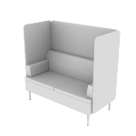 HASHB2MF | HON Astir Two Seat Lounge | High Back Screen | Multi-Fabric