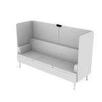 HASHB3MF | HON Astir Three Seat Lounge | High Back Screen | Multi-Fabric