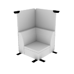 HASHBTCMF | HON Astir True Corner Lounge | High Back Screen |  Multi-Fabric