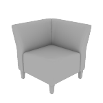 HFLCC1 | HON Flock Lounge Chair | True Corner