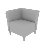 HFLMR1 | HON Flock Modular Chair | Right End