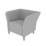 HFLSC1 | HON Flock Lounge Chair | Square