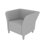 HFLSC1DF | HON Flock Lounge Chair | Square | Dual Fabric