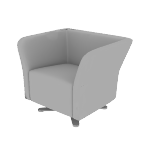 HFLSC1S | HON Flock Lounge Chair | Square | Swivel Base