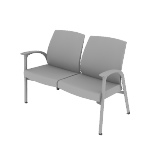 HHCG21DFMB | HON Soothe Guest Chair | Two-Seat | Outside Arms | Moisture Barrier