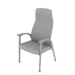 HHCP1DF | HON Soothe High-Back Patient Chair | Fixed Arms | Dual Fabric