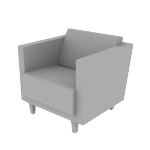 HML1SDF | HON Grove Lounge Chair | Single Seat | Dual Fabric