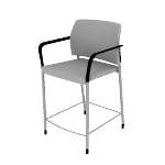 HSCS1DF | HON Accommodate Stool | Counter Height | Dual Fabric