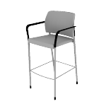 HSCS2DF | HON Accommodate Stool | Cafe Height | Dual Fabric