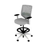 HSLVSMRS | HON Solve Task Chair | Mid-Back | ReActiv Back | Synchro-Tilt | White Frame