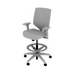 HSLVSMU | HON Solve Stool | Upholstered  Back | Synchro-Tilt
