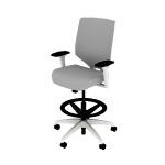 HSLVSMUS | HON Solve Mid-Back Task Chair | Upholstered Back | Synchro-Tilt | White Frame