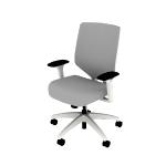 HSLVTMMS | HON Solve Mid-Back Task Chair | Mesh Back | Synchro-Tilt | White Frame