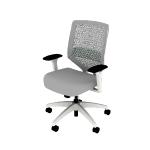 HSLVTMRS | HON Solve Mid-Back Task Chair | ReActiv Back | Synchro-Tilt | White Frame