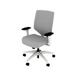 HSLVTMUS | HON Solve Mid Back Task Chair | Upholstered ReActiv Back | Synchro-Tilt | White Frame