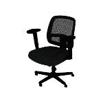 HVL205ARMS | HON ValuTask Mesh Back Task Chair | Center-Tilt | Height-Adjustable Arms