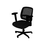 HVL205ARMS | HON ValuTask Mesh Back Task Chair | Center-Tilt | Height-Adjustable Arms