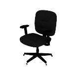 HVL210ARMS | HON ValuTask Low-Back Task Chair | Center-Tilt | Height-Adjustable Arms