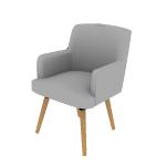 HVL238 | HON Matter Multipurpose Chair | 4-Leg Base | Natural  Wood Legs