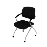 HVL303 | HON Floating Back Nesting Chair | Casters | Black Frame | Black Fabric | 1 per Carton