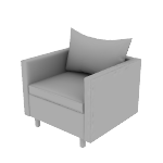 HWH1SPCF | HON West Hill Single Seat Lounge | Pillow Cushions | Contrasting Fabric