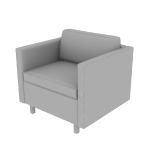 HWH1SS | HON West Hill Single Seat Lounge | Standard Cushion