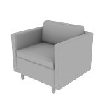 HWH1SSCF | HON West Hill Single Seat Lounge | Standard Cushion | Contrasting Fabric