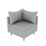HWH1TCPCF | HON West Hill True Corner | Pillow Cushions | Contrasting Fabric