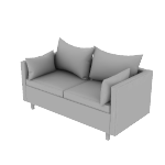 HWH2SPCF | HON West Hill Two Seat Lounge | Pillow Cushion | Contrasting Fabric