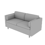 HWH2SSCF | HON West Hill Two Seat Lounge | Standard Cushion | Contrasting Fabric