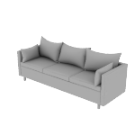 HWH3SPCF | West Hill Three Seat Lounge-Pillow Cushion CF