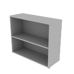 "HLSL1336B2 | HON Voi Bookcase | 2 Shelves | 36""W"