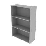 "HLSL1336B3 | HON Voi Bookcase | 3 Shelves | 36""W"