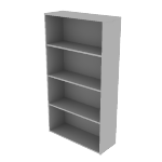 "HLSL1336B4 | HON Voi Bookcase | 4 Shelves | 36""W"