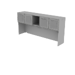 HLSL1472MB | Stack-on Storage, Built-up with 4 Frosted Doors with Metal Frame with Cubbies