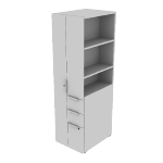 "HLSLW486L | HON Voi Storage Tower | Left Hand Door | 18""W x 24""D"