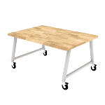 HEMKR426029BB | Build Makerspace Table 42x60 Seated w/ BB Top