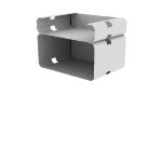 "HMVPCSS-4C9C | HON Motivate Presentation Cart | Double Shelf | 4"" Closed Back / 9"" Closed Back"