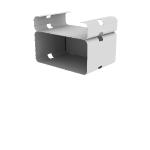 "HMVPCSS-4O9C | HON Motivate Presentation Cart | Double Shelf | 4"" Open Back / 9"" Closed Back"