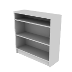 "H1872 | HON 1870 Series Laminate Bookcase | 3 Shelves | 48 3/4""H"