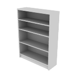 "H1874 | HON 1870 Series Laminate Bookcase | 4 Shelves | 48 3/4""H"