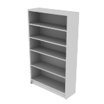 "H1875 | HON 1870 Series Laminate Bookcase | 5 Shelves | 60 1/8""H"