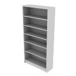 "H1876 | HON 1870 Series Laminate Bookcase | 6 Shelves | 72 5/8""H"
