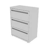 "H773 | HON Brigade 700 Series Lateral File | 3 Drawers | 30""W x 18""D"