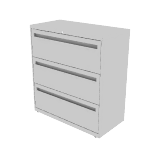 "H783 | HON Brigade 700 Series Lateral File | 3 Drawers | 36""W x 18""D"