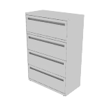 "H784 | HON Brigade 700 Series Lateral File | 4 Drawers | 36""W x 18""D"