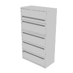 "H785 | HON Brigade 700 Series Lateral File | 5 Drawers | 36""W x 18""D"